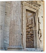Entrance To The Temple Of The Athena Nike Wood Print