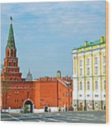 Entry Gate At Armory Museum Inside Kremlin Wall In Moscow-russia Wood Print