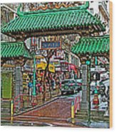 Entry Gate To Chinatown In San Francisco-california Wood Print