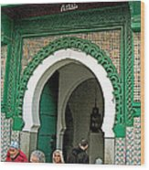 Entry To A Mosque For Men Only In Tangiers-morocco Wood Print