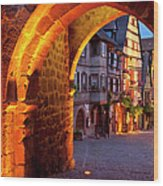 Entry To Riquewihr Wood Print by Brian Jannsen