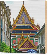 Entryway To Middle Court Of Grand Palace Of Thailand In Bangkok Wood Print