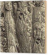 Ents Sepia Wood Print