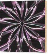 Entwine Violot Wood Print