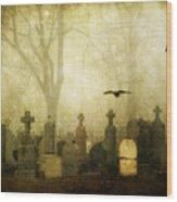 Enveloped By Fog Wood Print