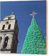 Environmentally Friendly Christmas Tree Wood Print