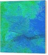 Envision Aqua Blue Wood Print