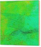 Envision Aqua Green Wood Print