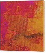 Envision Golden Purple Wood Print