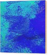 Envision Midnight Blue Wood Print