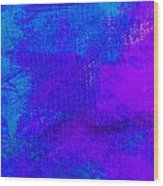 Envision Purple Blue Wood Print