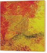 Envision Red Golden Wood Print