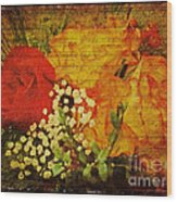 Envoi De Fleurs Wood Print