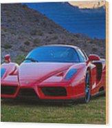 Enzo Ferrari Bold Wood Print