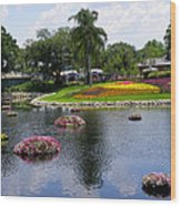 Epcot Center Flower Festival 1 Wood Print