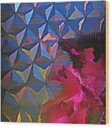 Epcot Centre Abstract Wood Print
