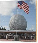 Epcot Usa Wood Print