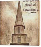 Ephesians 2 14 Wood Print