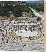 Theater Of Ephesus Wood Print