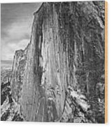 406716 Epic Bw Half Dome 1967 Wood Print