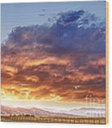 Epic Colorado Country Sunset Landscape Wood Print