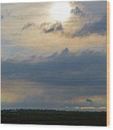 Epilogue Of A Storm Wood Print