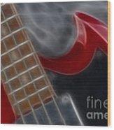 Epiphone Sg Bass-9205-fractal Wood Print