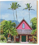Episcopal Church In Kapaa Wood Print