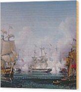 Episode Of The Battle Of Navarino Wood Print