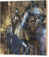 Equestrian Armour Wood Print