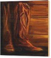 Equestrian Boots Wood Print