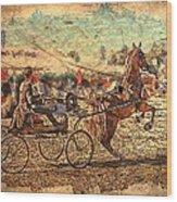 Equestrian Folklore Wood Print by Ernestine Manowarda