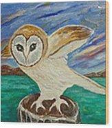 Equinox Owl Wood Print
