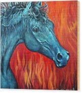 Equus Diabolus Diablo Wood Print