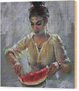 Erbora With Watermelon Wood Print