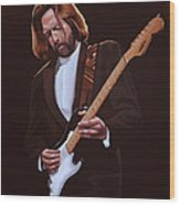 Eric Clapton Painting Wood Print