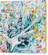 Eric Clapton - Watercolor Portrait Wood Print