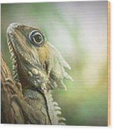 Eric The Lizard Wood Print