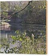 Erie Canal At Bushnell Basin Wood Print