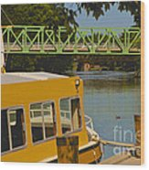 Erie Canal At Pittsford Ny Wood Print