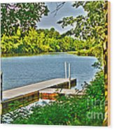 Erie Canal Dockage Wood Print