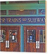 Erie Lackawanna Terminal Doors Hoboken Wood Print