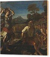Erminia And The Shepherds Wood Print