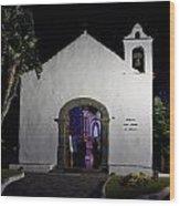 Ermita San Telmo. Puerto De La Cruz By Night Wood Print