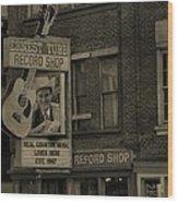 Ernest Tubb Record Shop Wood Print