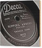 Ernest Tubb Vinyl Record Wood Print