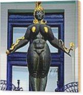 Ernst Fuchs Museum Nude Statue Wood Print