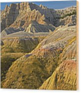 Eroded Buttes Badlands National Park Wood Print