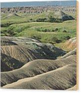 Eroded Landscape Badlands Np Wood Print