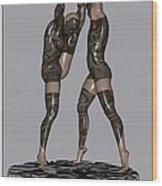 erotic acrobatics 2EA 1 Wood Print by Pemaro